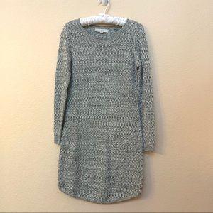 Ann Taylor LOFT Petites Black White Sweater Dress